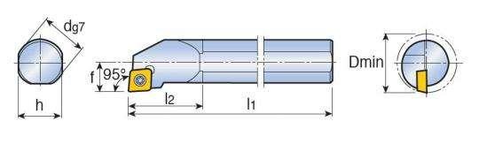 Винтовой прижим Taegutec S20S SCLPR 09 с углом в плане 95° фото 2