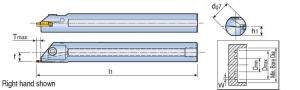Державка Taegutec TGIFR 25-4C-T5.5 для обработки внутренних мелких канавок, Face Grooving & Turning фото 2