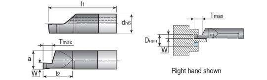 Мини-державка Taegutec MINAR07-200200D060 для обработки торцевых канавок вдоль вала, Int. Face Grooving фото 2