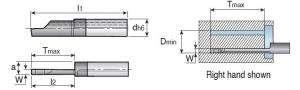 Мини-державка Taegutec MINFR07 200250D150 для обработки глубоких торцевых канавок, Int. Face Grooving фото 2