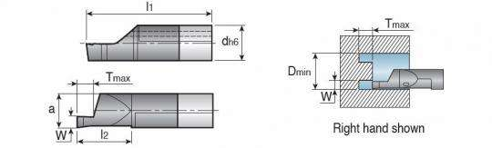 Мини-державка Taegutec MINFL07-210150D080 для обработки глубоких торцевых канавок, Int. Face Grooving фото 2