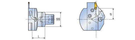 Адаптер Taegutec C6-TCHPN С-типа с картриджем, Int. Face Grooving фото 2