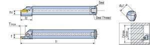 Державка Taegutec TTFIR 25-3T12 79-150 для проточки внутренних канавок, Int. Face Grooving & Turning фото 2