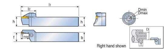 Картридж Taegutec TTFL 20-24-35-3T10 RN для наружной торцовой обработки канавок, Face Grooving Along Shaft фото 2