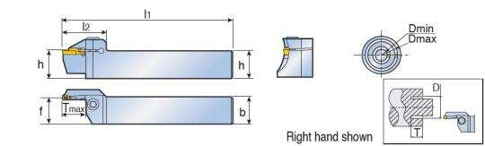 Картридж Taegutec TTFL 25-42-4 RN для наружной торцовой обработки канавок, Face Grooving Along Shaft фото 2