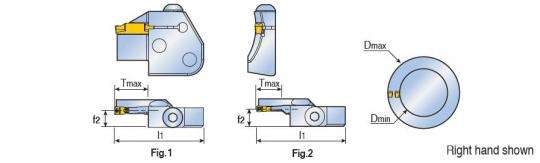 Картридж Taegutec TCFL 4T16-50-70 RN для наружной торцовой обработки канавок, Face Grooving Along Shaft фото 2