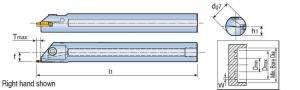 Державка Taegutec TGIFL 25-6C-T5.5 для обработки внутренних мелких канавок, Face Grooving Along Shaft фото 2