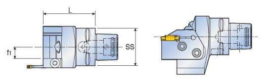 Адаптер Taegutec C6-TCHN С-типа с параллельным картриджем, Face Grooving Along Shaft фото 2