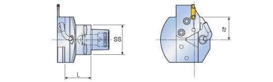 Адаптер Taegutec C5-TCHPN С-типа с перпендикулярным картриджем, Face Grooving Along Shaft фото 2